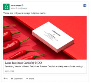Moo Facebook Ad Screenshot