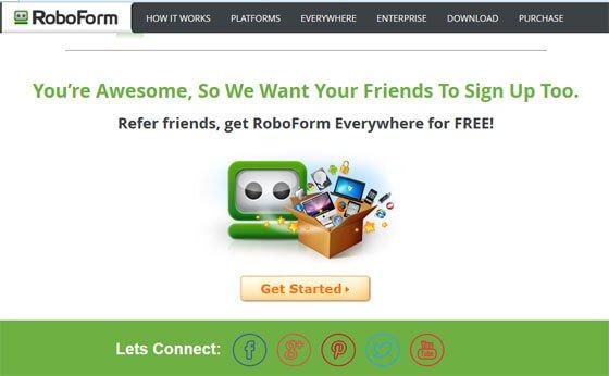 Roboform website screenshot