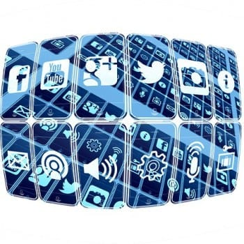Social media icons and tools