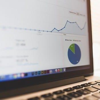 laptop displaying analytics