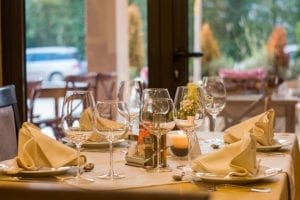 A formal table setting