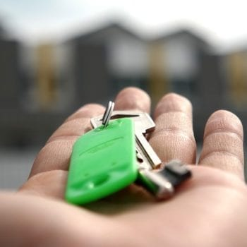 A key with green keychain